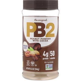 PB2 Foods, شوكولاتة PB2 بزبدة الفول السوداني مع الشوكولاتة الفاخرة، 6.5 أوقية (184 جم)