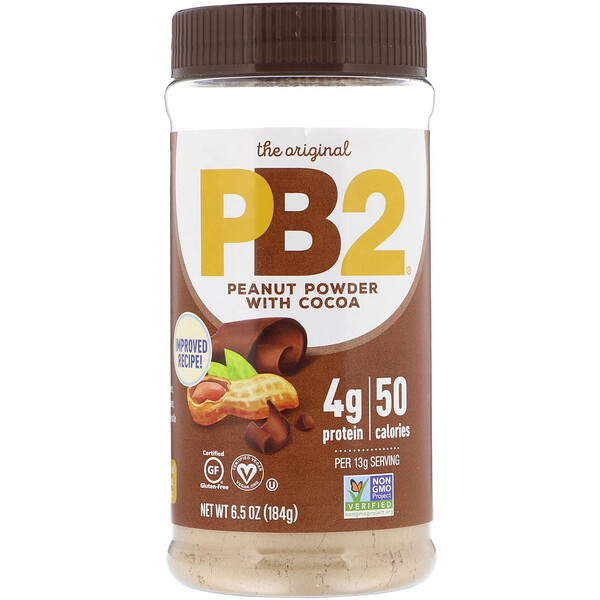 PB2 Foods, PB2, Powdered Peanut Butter with Cocoa, 6.5 oz (184 g)