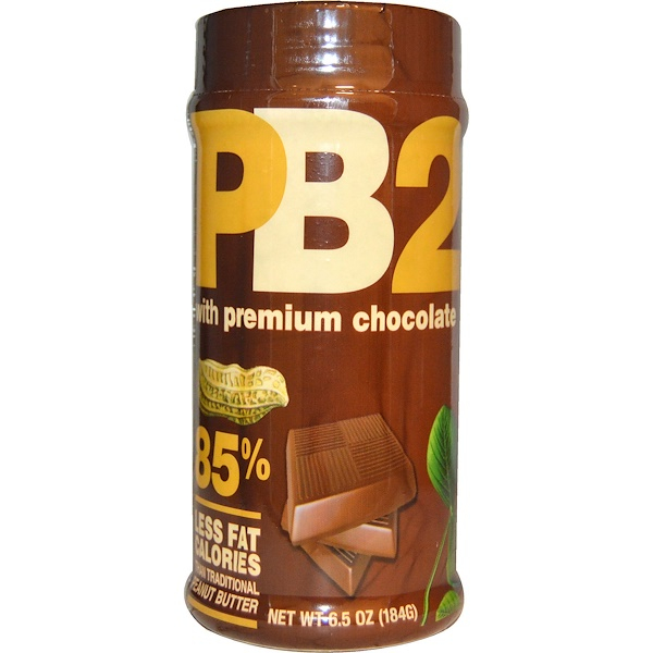 PB2 Foods, PB2, Powdered Peanut Butter with Premium Chocolate, 6.5 oz (184 g)