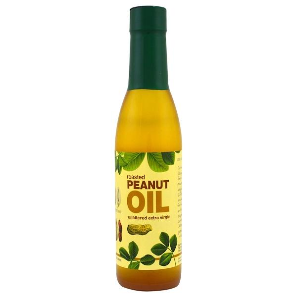 PB2 Foods, Roasted Peanut Oil, Unfiltered Extra Virgin, 12.3 fl oz (363 ml) (Discontinued Item)