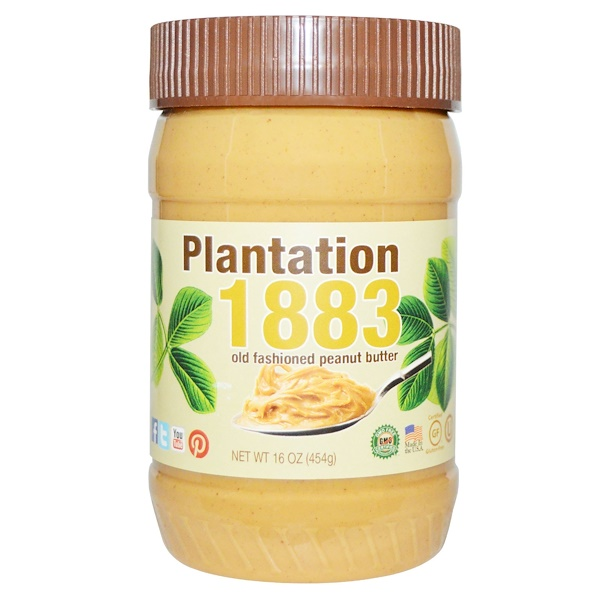 Bell Plantation, Plantation 1883, Old Fashioned Peanut Butter, Creamy, 16 oz (454 g)