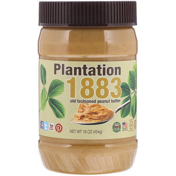 PB2 Foods, Plantation 1883, Old Fashioned Peanut Butter, Creamy, 16 oz (454 g) (Discontinued Item)