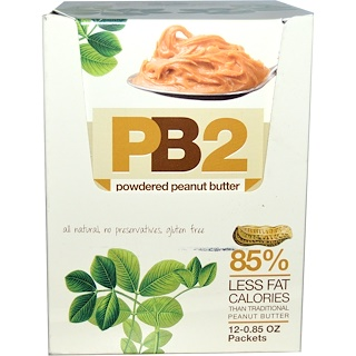 Bell Plantation, PB2, Powdered Peanut Butter, 12 Packets, 0.85 oz Each