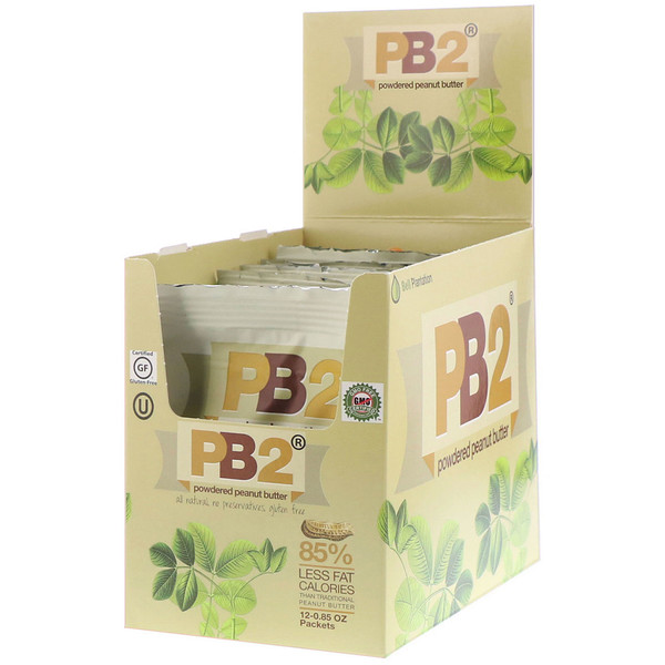 PB2 Foods, PB2, Powdered Peanut Butter, 12 Packets, 0.85 oz Each (Discontinued Item)