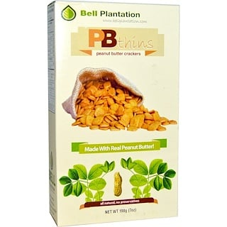 Bell Plantation, PB Thins, Galletas de Mantequilla de Maní, 7 oz (198 g)