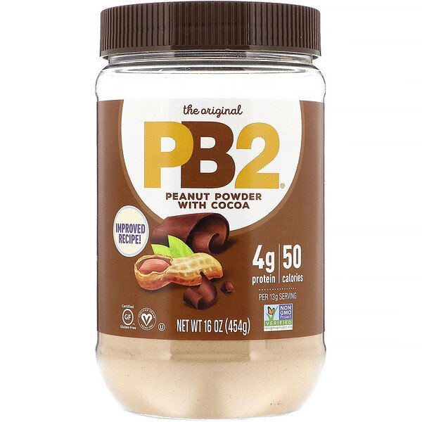 PB2, Powdered Peanut Butter with Premium Chocolate, 1 lb (454 g)