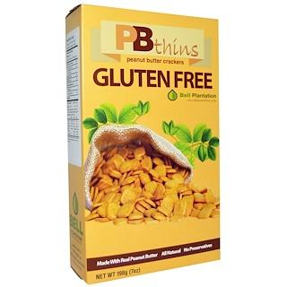 Bell Plantation, PB Thins, Peanut Butter Crackers, Gluten Free, 7 oz (198 g)