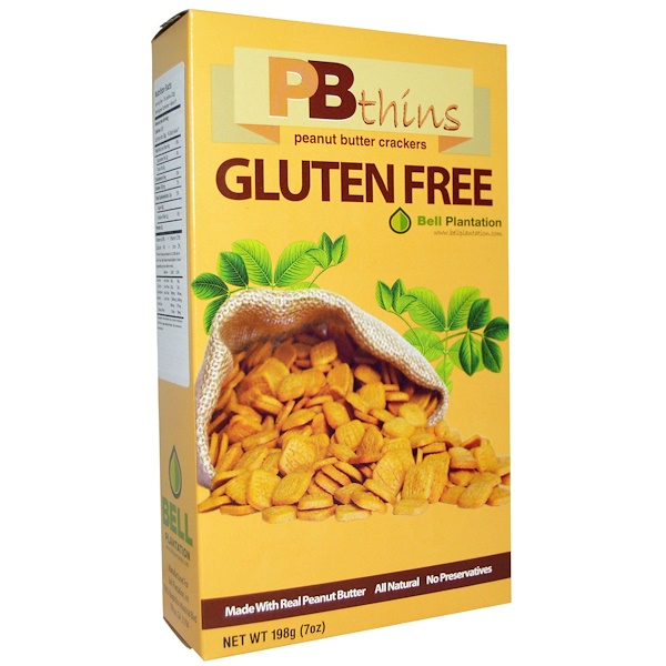 PB2 Foods, PB Thins, Peanut Butter Crackers, Gluten Free, 7 oz (198 g) (Discontinued Item)