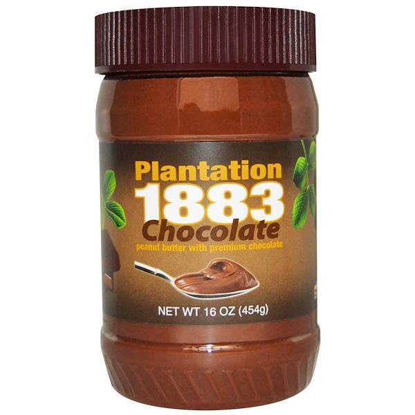 PB2 Foods, Plantation 1883, Peanut Butter, Chocolate, 16 oz (454 g) (Discontinued Item)