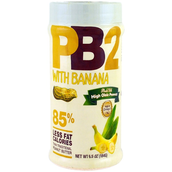 PB2 Foods, PB2, Powdered Peanut Butter with Banana, 6.5 oz (184 g) (Discontinued Item)
