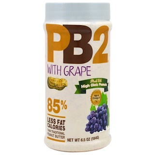 Bell Plantation, PB2, Powdered Peanut Butter with Grape, 6.5 oz (184 g)