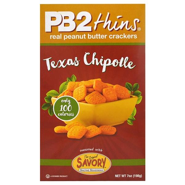 PB2 Foods, PB2 Thins, Texas Chipotle, 7 oz (198 g) (Discontinued Item)