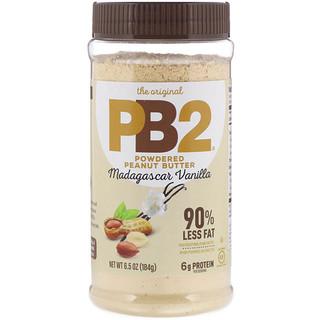 PB2 Foods, The Original PB2، زبدة الفول السوداني المجفف، فانيليا مدغشقر، 6.5 أوقية (184 غرام)