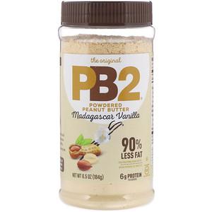Белл Плантайшн, The Original PB2, Powdered Peanut Butter, Madagascar Vanilla, 6.5 oz (184 g) отзывы покупателей