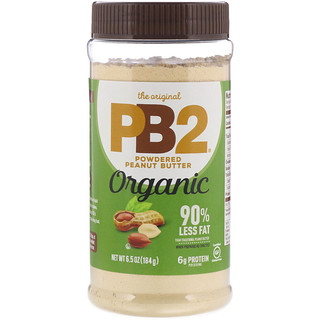 PB2 Foods, The Original PB2, Organic Powdered Peanut Butter, 6.5 oz (184 g)