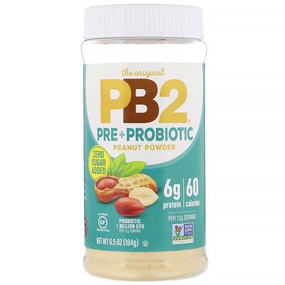 Купить PB2 Foods The Original PB2, арахисовый порошок с пре- и пробиотиками, 184г (6, 5унции)