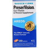 Bausch & Lomb, PreserVision, AREDS, 120 Tablets