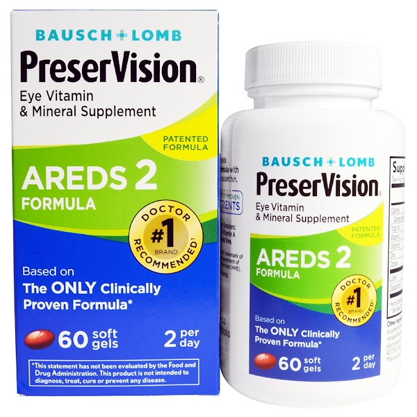Bausch & Lomb, AREDS 2 Formula護眼軟膠囊,60粒