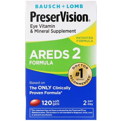 Купить PreserVision, AREDS 2 Formula, добавка для здоровья глаз с витаминами и минералами, 120 мягких таблеток