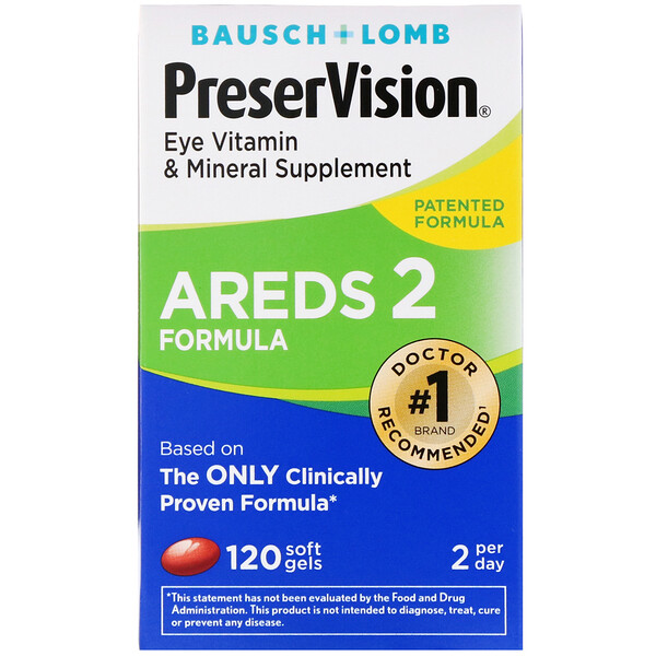 PreserVision, AREDS 2 Formula, Eye Vitamin & Mineral Supplement, 120 Soft Gels