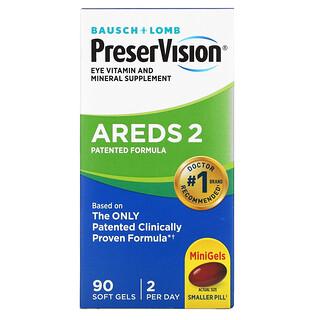 Bausch & Lomb, PreserVision, AREDS 2 Formula, AREDS 2-Formel, 90Weichkapseln