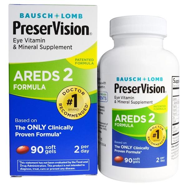Bausch & Lomb, AREDS 2 Formula護眼軟膠囊,90粒