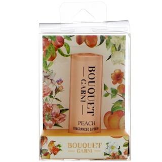 Bouquet Garni, Fragranced Lip Balm, Peach, 1 Lip Balm