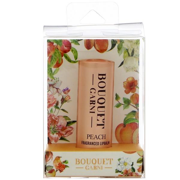 Bouquet Garni, 芳香唇膏,桃子味,1 支