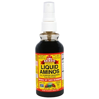 Bragg, Liquid Aminos, Natural Soy Sauce Alternative, 6 fl oz (180 ml)