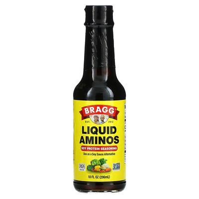 Bragg Liquid Aminos, Soy Protein Seasoning, 10 fl oz (296 ml)