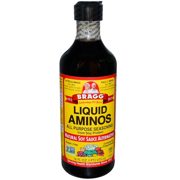 Bragg, Liquid Aminos, Natural Soy Sauce Alternative, 16 fl oz (473 ml) (Discontinued Item)