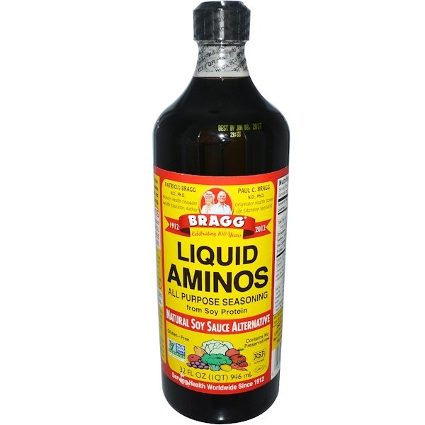 Bragg, Liquid Aminos, condimento para todo propósito, salsa de soja alternativa natural, 32 fl oz (946 ml) (Discontinued Item)