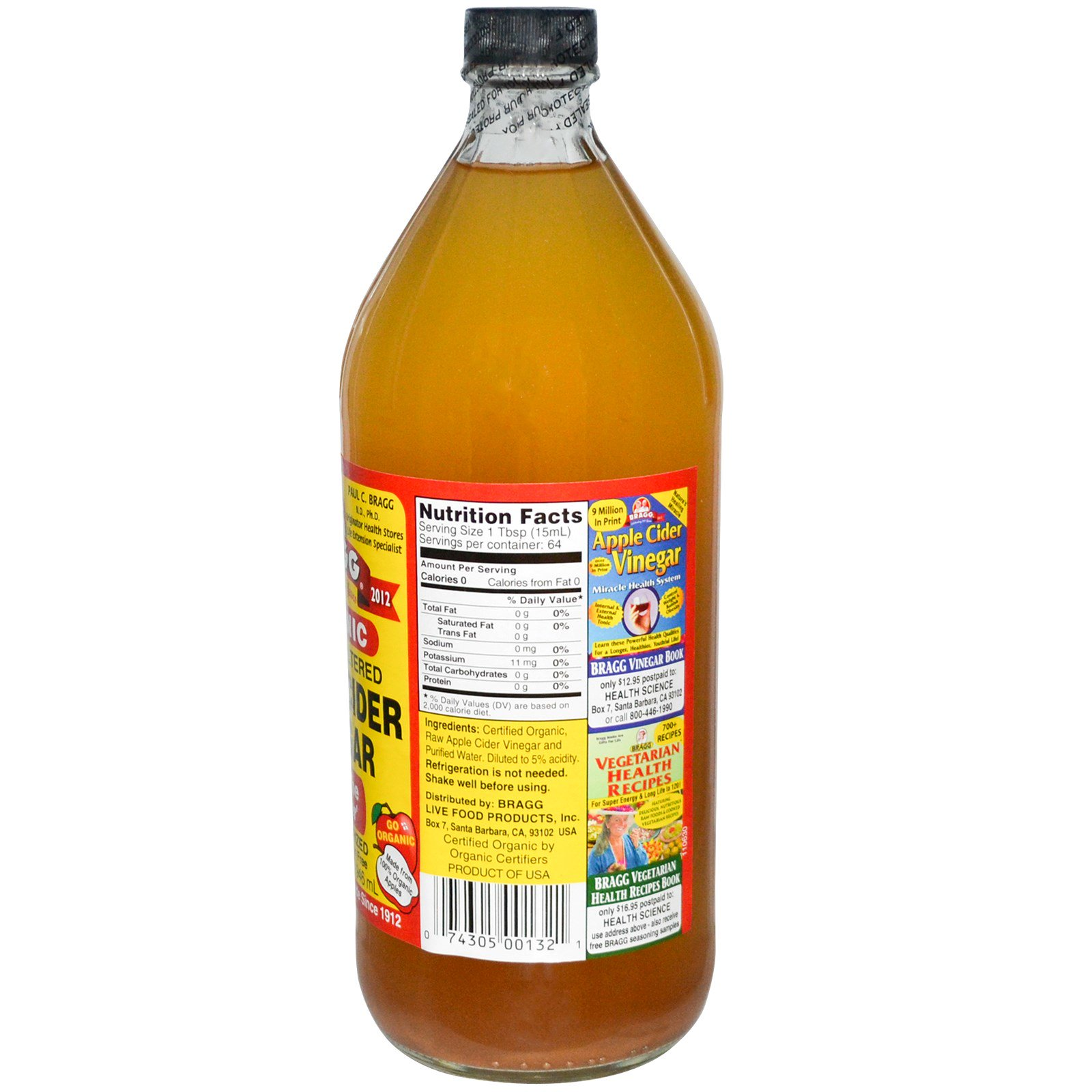 Bragg Organic Apple Cider Vinegar With The Mother Raw