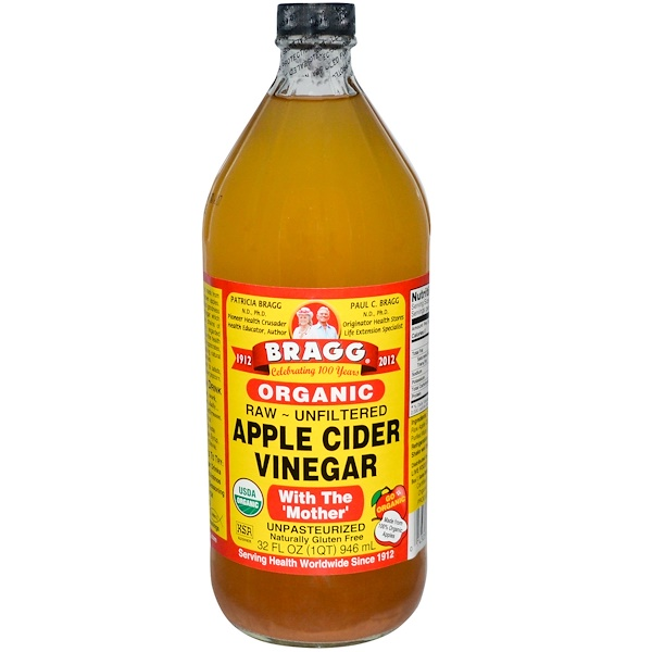 Bragg, Organic, Apple Cider Vinegar, with The 'Mother', Raw - Unfiltered, 32 fl oz (946 ml) (Discontinued Item)
