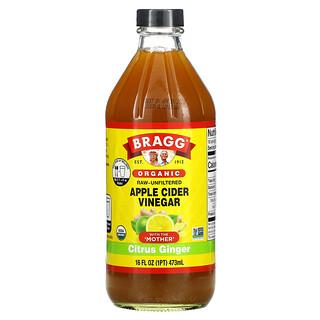 Bragg, Organic, Apple Cider Vinegar, Citrus Ginger, 16 fl oz (473 ml)