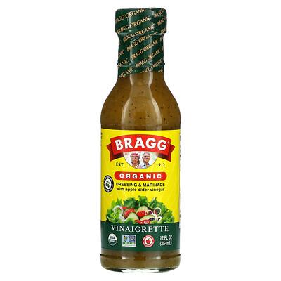 Bragg Organic Dressing & Marinade with Apple Cider Vinegar, Vinaigrette, 12 fl oz (354 ml)