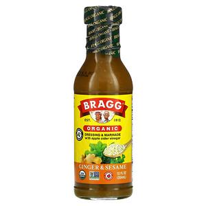 Bragg, Organic Dressing & Marinade with Apple Cider Vinegar, Ginger & Sesame, 12 fl oz (354 ml)