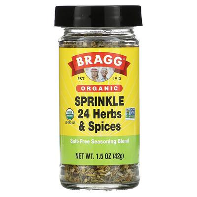 Bragg Organic, Sprinkle 24 Herbs & Spices Seasoning, 1.5 oz (42 g)