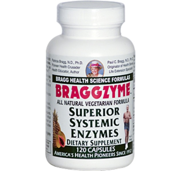 Bragg, Braggzyme, Superior Systemic Enzymes, 120 Capsules (Discontinued Item)