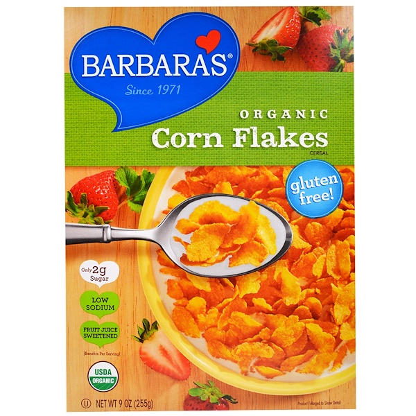 Barbara's Bakery, Органические кукурузные хлопья, 9 унций (255 г)