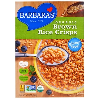 Barbara's Bakery, Organic Brown Rice Crisps Cereal, 10 oz (284 g)