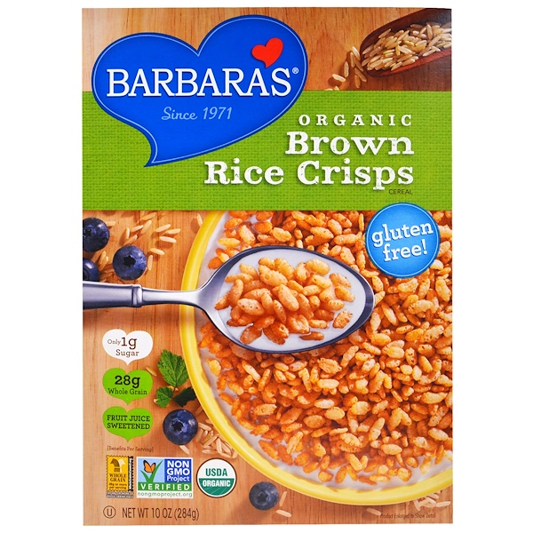 Barbara's Bakery, 有機玄米クリスプシリアル、10 オンス (284 g) (Discontinued Item)