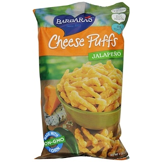 Barbara's Bakery, Cheese Puffs, Jalapeno, 7 oz (198 g)