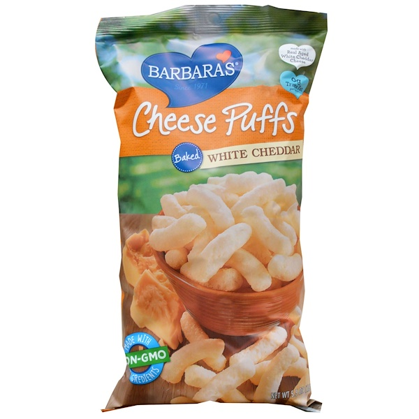 Barbara's Bakery, Baked Cheese Puffs, White Cheddar, 5.5 oz (155 g)