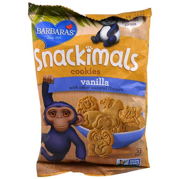 Barbara's Bakery, Snackimals, Animal Cookies, Vanilla, 2.125 oz (60 g)