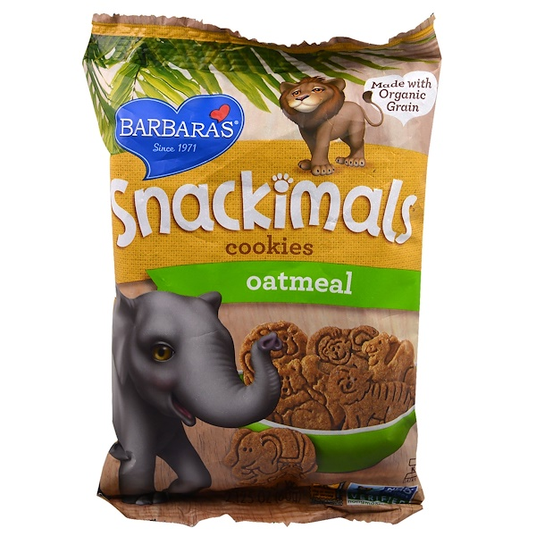 Barbara's Bakery, Snackimals, Animal Cookies, Oatmeal, 2.125 oz (60 g)