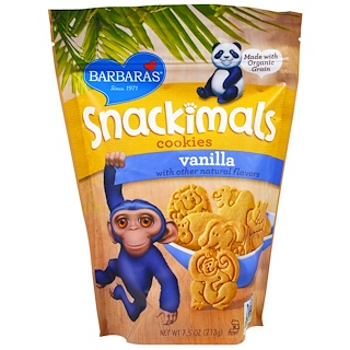 Barbara's Bakery, Snackimals, Animal Cookies, Vanilla, 7.5 oz (213 g)