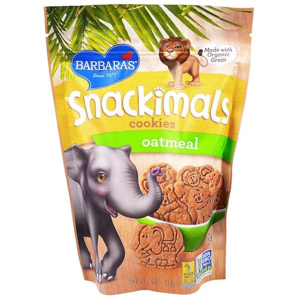 Barbara's Bakery, Snackimals Animal Cookies, Oatmeal, 7.5 oz (213 g)