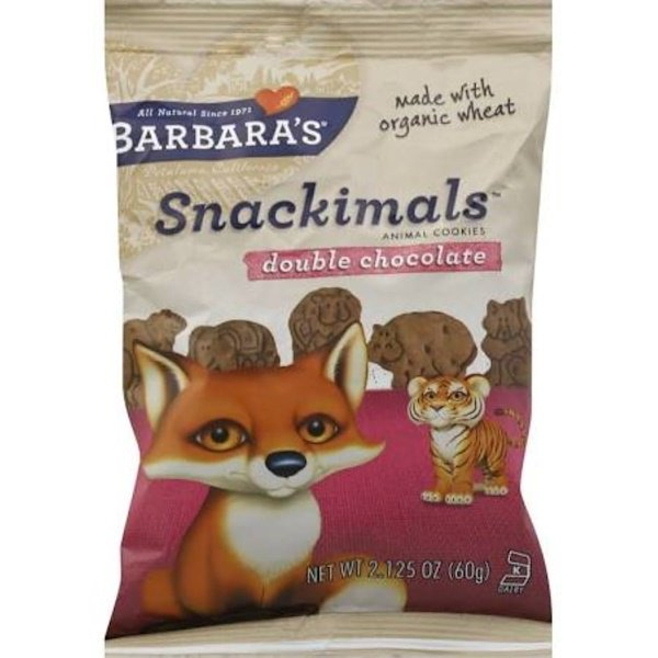 Barbara's Bakery, Snackimals, Animal Cookies, Double Chocolate, 2.125 oz (60 g) (Discontinued Item)