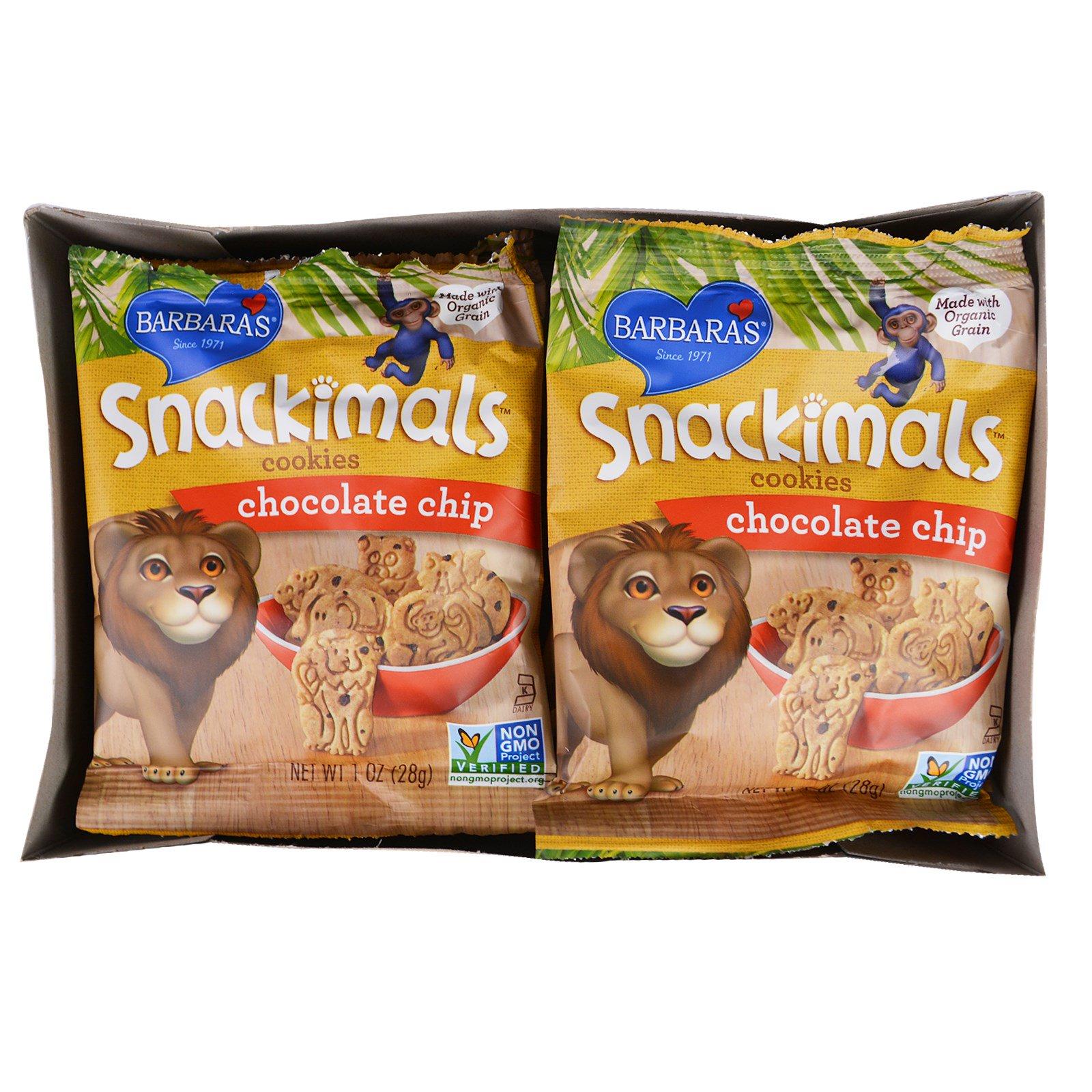 Snackimals Chocolate Chip Animal Cookies